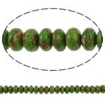 Bruz Beads, Bruz Mozaiku, Rondelle, sintetik, asnjë, e gjelbër, 8x5mm, : 1mm, :15.7Inç, 10Fillesat/Qese,  Qese