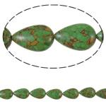Bruz Beads, Bruz Mozaiku, Lot, sintetik, asnjë, e gjelbër, 17x25x9mm, : 1mm, :15.7Inç, 10Fillesat/Qese,  Qese