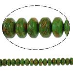 Bruz Beads, Bruz Mozaiku, Rondelle, sintetik, asnjë, e gjelbër, 14x8mm, : 1mm, :15.7Inç, 10Fillesat/Qese,  Qese