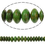 Bruz Beads, Bruz Mozaiku, Rondelle, sintetik, asnjë, e gjelbër, 10x6mm-20x12mm, : 1mm, :15.7Inç, 10Fillesat/Qese,  Qese
