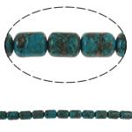 Bruz Beads, Bruz Mozaiku, Kolonë, sintetik, asnjë, blu, 8x11mm, : 1mm, :15.7Inç, 10Fillesat/Qese,  Qese