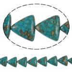Bruz Beads, Bruz Mozaiku, Trekëndësh, sintetik, asnjë, blu, 21x19x8mm, : 1mm, :15.7Inç, 10Fillesat/Qese,  Qese