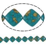 Bruz Beads, Bruz Mozaiku, Romb, sintetik, asnjë, blu, 24x8mm, : 1mm, :15.7Inç, 10Fillesat/Qese,  Qese