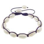 Ujërave të ëmbla Pearl Shamballa Bracelets, Pearl kulturuar ujërave të ëmbla, with Cord najlon, Shape Tjera, asnjë, asnjë, 12-14x9x9mm, :6-11Inç, 10Fillesat/Shumë,  Shumë