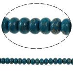 Bruz Beads, Bruz Gold venë, Rondelle, sintetik, asnjë, blu, 8x5mm, : 1mm, : 15.7Inç, 10Fillesat/Qese,  Qese