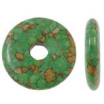 Bruz Beads, Bruz Mozaiku, Round Flat, sintetik, asnjë, e gjelbër, 30x7mm, : 7mm, 50PC/Qese,  Qese