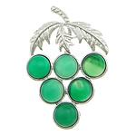 E gjelbër varëse agat, Jeshile agat, with Tunxh, Hardhi, ngjyrë platin praruar, asnjë, 36x56x5mm, : approx 10x4mm, 20PC/Shumë,  Shumë