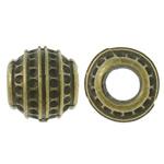 Beads Zink Alloy Vendosja, Alloy zink, Daulle, Ngjyra antike bronz i praruar, asnjë, asnjë, , nikel çojë \x26amp; kadmium falas, 12.5x11.5mm, : 5.5mm, 200PC/Qese,  Qese