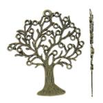 Pendants Zink Alloy Leaf, Alloy zink, Pemë, Ngjyra antike bronz i praruar, asnjë, asnjë, , nikel çojë \x26amp; kadmium falas, 55.50x63.50x2mm, : 2.5mm, 100PC/KG,  KG