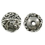 Beads aliazh zink Hollow, Alloy zink, Round, Ngjyra antike argjendi praruar, i uritur, asnjë, , nikel çojë \x26amp; kadmium falas, 16mm, : 3mm, 50PC/Qese,  Qese