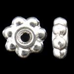 Beads Zink Alloy Spacer, Alloy zink, Lule, Ngjyra argjend praruar, asnjë, asnjë, , nikel çojë \x26amp; kadmium falas, 5x1.5mm, : 1mm, 6660PC/KG,  KG