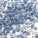 Ngjyra rreshtuar Farë Glass Beads, Seed Glass Beads, Round, ngjyra-rreshtuan, asnjë, asnjë, 2x1.9mm, : 1mm, 30000PC/Qese,  Qese