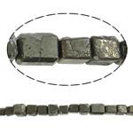 Beads bizhuteri gur i çmuar, Chalcopyrite, Drejtkëndësh, natyror, asnjë, 15mm, : 1.5mm, : 15.7Inç, 10Fillesat/Shumë,  Shumë