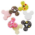 Rrëshirë Cabochon, Mickey Mouse, asnjë, smalt, ngjyra të përziera, 20x25mm, 400PC/Qese,  Qese