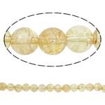 Kërcitje Beads kuarc, Beads citrine, Round, asnjë, 12mm, : 1mm, : 15.7Inç, 20Fillesat/Shumë,  Shumë