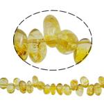 Beads kuarc bizhuteri, Lemon kuarc, Nuggets, natyror, asnjë, 12x10x11.50mm, : 1.5mm, : 15.7Inç, 20Fillesat/Shumë,  Shumë