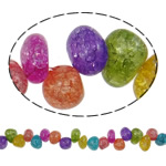 Kërcitje Beads kuarc, Kuarc Natyrore, Nuggets, natyror, 11x7mm, : 1mm, : 15.7Inç, 20Fillesat/Shumë,  Shumë