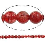 Kërcitje Beads kuarc, Ruby kuarc, Round, natyror, 12mm, : 1.5mm, : 15.7Inç, 20Fillesat/Shumë,  Shumë