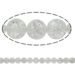 Kërcitje Beads kuarc, Kuarc qartë, Round, natyror, 8mm, : 1.5mm, : 15.7Inç, 20Fillesat/Shumë,  Shumë