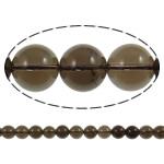 Natürliche Rauchquarz Perlen, rund, verschiedene Größen vorhanden, Bohrung:ca. 1.5mm, Länge:ca. 15.7 ZollInch, 20SträngeStrang/Menge, verkauft von Menge
