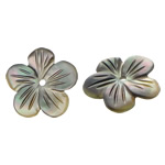 Beads Zi Shell, Black Shell, Lule, Gdhendur, asnjë, asnjë, 12x12x1.50mm, : 1mm, 50PC/Qese,  Qese