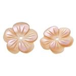 Beads Natyrore Pink Shell, Lule, Gdhendur, asnjë, asnjë, 12x12x1.50mm, : 1mm, 50PC/Qese,  Qese