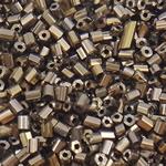 Glass Beads praruar Seed, Seed Glass Beads, Tub, i praruar, asnjë, ngjyrë kafe, 2x2mm, : 1mm, 30000PC/Qese,  Qese