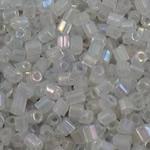 Rainbow Seed Glass Beads, Tub, ylber, i tejdukshëm, qartë, 2.5x3mm, : 1mm, 10000PC/Qese,  Qese