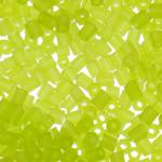 I mbuluar me brymë Seed Glass Beads, Tub, asnjë, e gjelbër, 2x2mm, : 1mm, 30000PC/Qese,  Qese