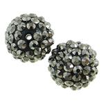 Beads diamant i rremë Rrëshirë, Rrëshirë diamant i rremë, Daulle, asnjë, asnjë, 16x18mm, : 2mm, 100PC/Qese,  Qese
