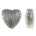 Beads Zink Alloy Zemra, Alloy zink, Zemër, Ngjyra antike argjendi praruar, asnjë, asnjë, , nikel çojë \x26amp; kadmium falas, 8x7.50x3.50mm, : 1mm, 1420PC/KG,  KG