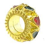 Tunxh Beads European, Rondelle, ngjyrë ari praruar, pa karrem & smalt, asnjë, , nikel çojë \x26amp; kadmium falas, 11x11x6mm, : 5mm, 100PC/Shumë,  Shumë