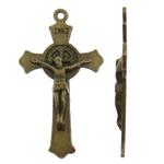 Alloy zink Pendants Kryqi, Ngjyra antike bronz i praruar, asnjë, asnjë, , nikel çojë \x26amp; kadmium falas, 21.50x37.50x3mm, : 1.5mm, 470PC/KG,  KG