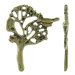 Pendants Zink Alloy Leaf, Alloy zink, Pemë, Ngjyra antike bronz i praruar, asnjë, asnjë, , nikel çojë \x26amp; kadmium falas, 30x38x3mm, : 2mm, 250PC/KG,  KG