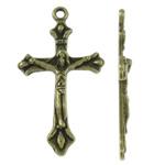 Alloy zink, Kryq, Ngjyra antike bronz i praruar, asnjë, asnjë, , nikel çojë \x26amp; kadmium falas, 22x39x3.50mm, : 2mm, 430PC/KG,  KG