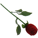 Velveteen Ring Display, Rose, with plastic & iron component, red, 40x46mm, 260mm, Sold by PC