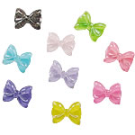 Glitter Resin Cabochon, Bowknot, mixed, 20x27mm, Approx 2000PCs/Bag, Sold by Bag