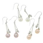 Një palë vathë Pearl ujërave të ëmbla, Pearl kulturuar ujërave të ëmbla, with Tunxh, Shape Tjera, Ngjyra argjend praruar, ngjyra të përziera, 9x50mm, 22x14x3.5cm, 36Çiftet/Kuti,  Kuti