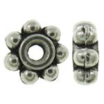 Alloy zink, Lule, Ngjyra antike argjendi praruar, asnjë, asnjë, , nikel çojë \x26amp; kadmium falas, 4x1.5mm, : 1mm, 6660PC/KG,  KG