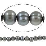 Patates Beads ujërave të ëmbla kulturuar Pearl, Pearl kulturuar ujërave të ëmbla, i lyer, gri, Një, 8-9mm, : 1mm, : 15.3Inç,  15.3Inç,