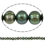 Patates Beads ujërave të ëmbla kulturuar Pearl, Pearl kulturuar ujërave të ëmbla, i lyer, jeshile të thellë, Një, 8-9mm, : 1mm, : 15.3Inç,  15.3Inç,