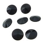 Cabochons Crystal, Kristal, Round Flat, asnjë, mbrapa Rivoli, Reaktiv, 16x16x6mm, 144PC/Qese,  Qese