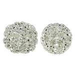 Beads bizhuteri Diamant i rremë, with Tunxh, Daulle, Ngjyra argjend praruar, i uritur, asnjë, 21x19mm, : 3.5mm, 2PC/Qese,  Qese