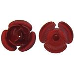 Beads bizhuteri Hekuri, Lule, stoving llak, asnjë, i kuq, , nikel çojë \x26amp; kadmium falas, 8x7.50x5mm, : 1mm, 500PC/Shumë,  Shumë