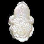 Pendants Natyrore White Shell, Shape Tjera, Gdhendur, asnjë, asnjë, 23x38x6mm, : 1mm, 10PC/Shumë,  Shumë
