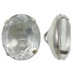 Beads bizhuteri bronzi, Tunxh, with Xham, Oval, ngjyrë platin praruar, asnjë, asnjë, , nikel çojë \x26amp; kadmium falas, 10x12.50x7.50mm, : 1mm, 10PC/Qese,  Qese