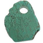Varëse Bruz, Bruz Natyrore, Shape Tjera, i lyer, asnjë, e gjelbër, 50x61x8mm, : 12mm, 30PC/Shumë,  Shumë
