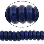 Bruz Beads, Bruz sintetike, Rondelle, i lyer, asnjë, blu të errët, 8x3mm, : 1mm, :16Inç, 20Fillesat/Shumë, 127pcs/strand,  Shumë