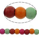 Bruz Beads, Bruz sintetike, Round, i lyer, asnjë, ngjyra të përziera, 3mm, : 1mm, :15.5Inç, 40Fillesat/Shumë, 148pcs/strand,  Shumë