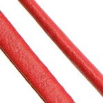 Cord lëkure, PU, Shape Tjera, asnjë, asnjë, i kuq, 4x2mm, 100PC/Shumë,  Shumë